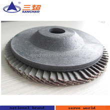 Plastic Backing Paper Flap Disc / Polymeric Carbon Backing Flap Disc Manufacturer