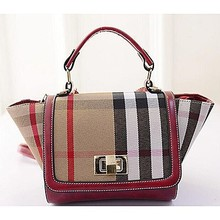 China supplier canvas designer handbag plaid women tote bag for 2015 SY6141