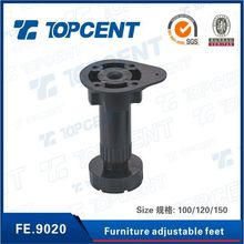 Furniture fittings plastic adjustable cabinet leg