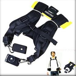 Black Professional portable Safe Double Shoulder quick strap Belt Sling camera bag wrist strap for Canon EOS Nikon