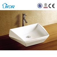 Alibaba bathroom anomaly design counter top ceramic wash basin