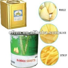 canned bamboo shoot in different ways of cutting