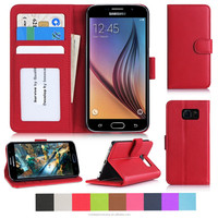 2015 good quality smart wallet leather phone case for Galaxy S6