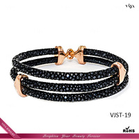 VIYA JEWELRY 18k gold jewelry wholesale gold stingray skin bracelet