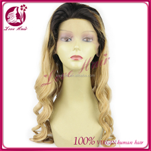 Fast Shipping Silk Base Vigin Hair Glueless Wig peruvian loose wave Full Lace Wig With Baby Hair