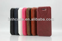 Hot sale smart pu leather front and back cover for iphone 5