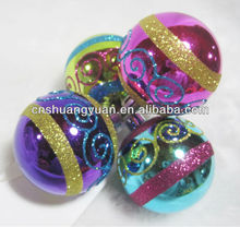 Brand New colorful cheap christmas ornaments balls with painting