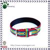 Rainbow Cotton Fabric Colored Dog Collar
