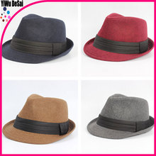 Summer fashion Jazz cap Men and women high-grade wool jazz cap hat