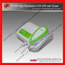 2015 hot sale 5.0 mp portable high Resolution skin and hair analyzer machine