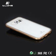 2015 hot sale!! Metal frame Bumper Case hard cover protective (1frame+2 TPU backup case) aluminum case for Samsung s6