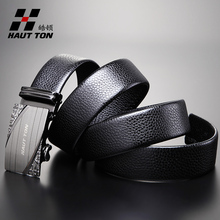 Luxury Automatic Buckle Mens Belts Genuine Leather Belts for Mens