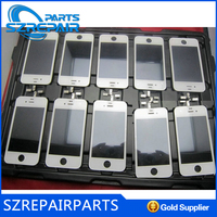 spare parts mobile phone colored glass back cover for iphone 4