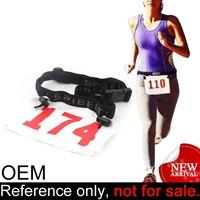 cheap running sport accessory custom elastic marathon race number belt