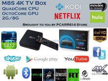 Original M8S Android TV Box 2 G / 8 G 2.4 G / 5 G wi fi kodi Android 4.4 Amlogic S812 Chip 4 K Full HD Smart TV Media
