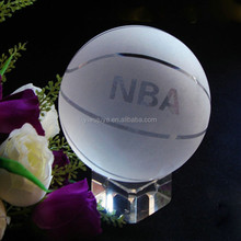 elegant souvenir gift factory supply high quality crystal glass basketball