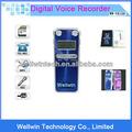 Lcd construido- en 8g memoria grabadora de voz de audio conferencia grabadora de metal cubierta de la pantalla&