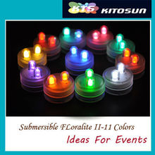 2015 Exquisite Party Favor & Decoration Waterproof Dual Led Submersible Floralytes