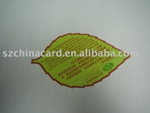 Die Cut Leaf Shaped Printed PVC Writable Cards