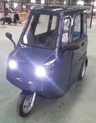three wheel electric car with window screen