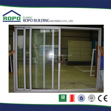 Chine alibaba fournisseur pvc trois panneaux coulissant intérieur de la porte