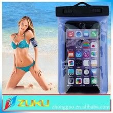 2015 summer newest design pvc string arm band low price china mobile phone waterproof pouch