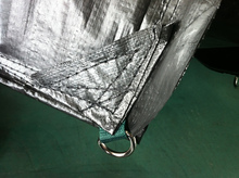 High quality white fire retardant polyethylene drain tarp