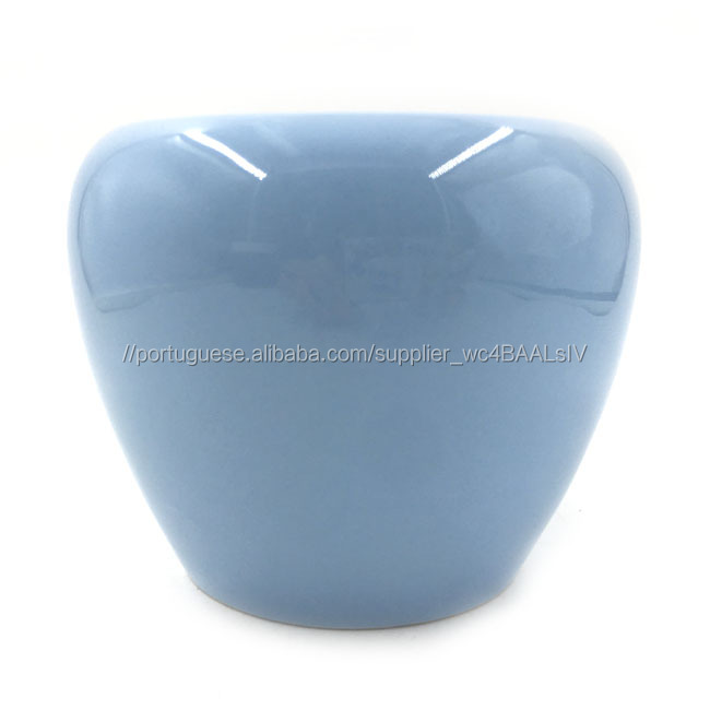 Rodada céu azul de cerâmica flor pote plantador suculenta