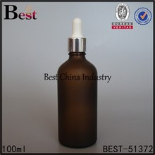 100ml amber frosted glass bottle, chemical amber glass vials, made in China