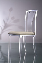 acrylic desk plastic back chair with seat cushion