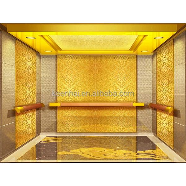 Int rieur en acier inoxydable gravure motif cabine d for Ascenseur interieur