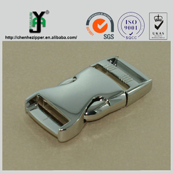 polished metal buckle car seat belt buckle 3/4 side release buckle