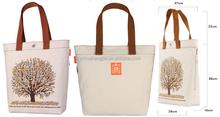 100% natural canvas cloth shopping bag with printed logo