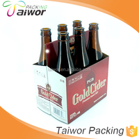Custom Printing Corrugated Paper Packaging 6 Bottle Wine Carrier Box