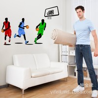 100pcs Gym backdrop decorative stickers bedroom wall stickers decorative basketball sticker