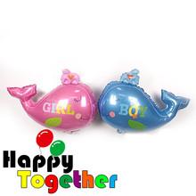 Pink Dolphin Globo, <span class=keywords><strong>Cumpleaños</strong></span> del Bebé Delfín Decoración Globo <span class=keywords><strong>de</strong></span> la Hoja