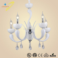 GZ20533-5P best quality nice design white candle hanging chandelier