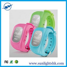 Top selling kids gps watch with fashion comfortable design,supporting anti lost tracking via App on smartphone