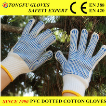 Cotton Gloves Safety Gloves Working Gloves With PVC Dots CE EN 388