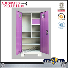 Children Wardrobe Almirah / Bedroom Colorful Modular Steel Children Wardrobe