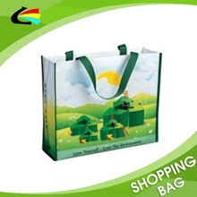 high quality eco friendly laminated supermarket pp woven bag