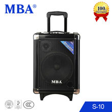 "MBA 10"" Mini Portable Trolley Battery Rechargeable Speaker"