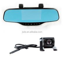 "4.3"" GPS tracker Rearview Mirror Car DVR, Full HD 1080P G-sensor car black box 170 Degree Angle Dual Lens Car camera"
