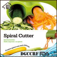 New Design Vegetable Spiral Slicer,Plastic Spiral Vegetable Slicer Chopper