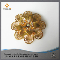 Decorative metal flowers for shoes