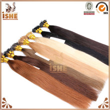 Grade 6A Indian stick tip/I tip double drawn remy human hair blonde