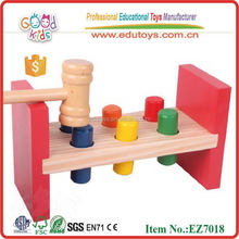 DIY Wooden hammer Knock Pegs Game Cheap Baby Toys for 12mounth and up