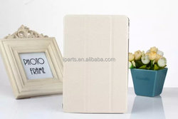 Magnetic Diamond Pattern Flip 3 Fold Stand Leather Case Cover For iPad mini 4 - White