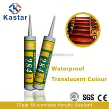 clear siliconized rhinestone adhesive high quality,acrylic sealant