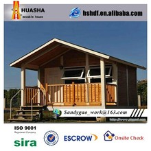 China fast construction energy saving low cost prefab wood house in Iraq